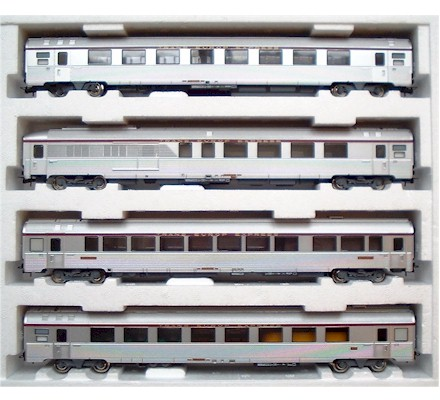 Details About Jouef Coffret 4 Voitures Tee Etoile Du Nord Ep4 Sncf Ref Hj 4008