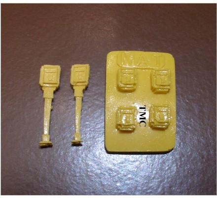 verte jaune époque IV Kit gris poubelles-SET Faller 180343 h0 bleu